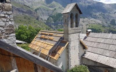 Travaux de toiture de l'église des Tourrès